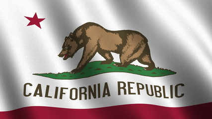 Seamless loop of the California state flag
