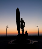 surfer statue in Imperial Beach poster