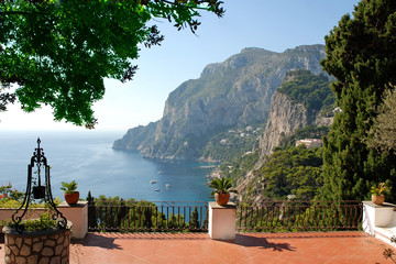 Nice view from the terrace of luxury villa