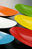 coloured dishes poster
