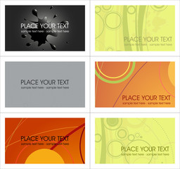 vector business card templates…