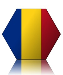 roumanie drapeau hexagone romania flag
