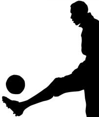 silhouette de footballeur
