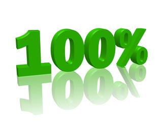 """""""100%"""" (3D avec reflet)"""