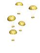 parachutes dorés