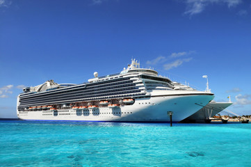 Cruise Ships Anchored in Grand Turk Island