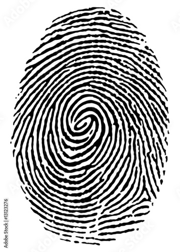 thumbprint over white