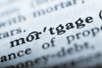 Word mortgage in shallow focus