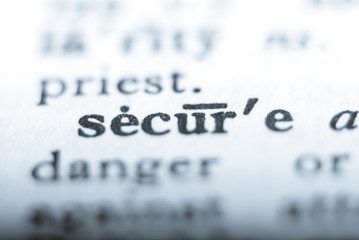 Word secure in shallow focus
