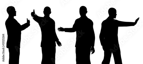 Barack Obama silhouette isolated on a white background