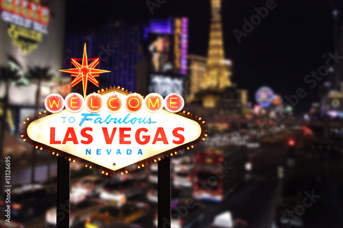 canvas print picture Welcome to Las Vegas Nevada