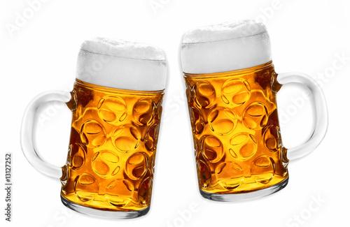 Leinwanddruck Bild Biergrüge