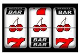 A close up of a slot machine winner