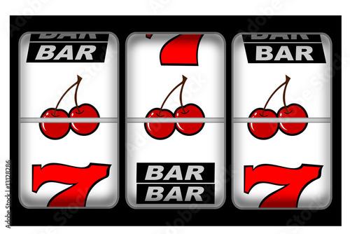 A close up of a slot machine winner - 13128286