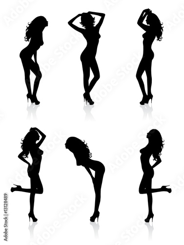 Naked silhouettes.