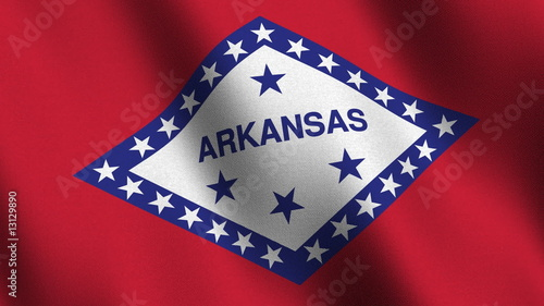 Seamless loop of the Arkansas state flag