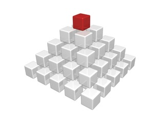 3d cube pyramid