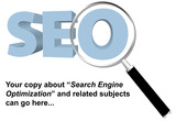 SEO search engine optimized magnifying glass website page backgr poster