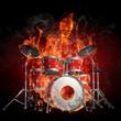 Leinwanddruck Bild - Drummer