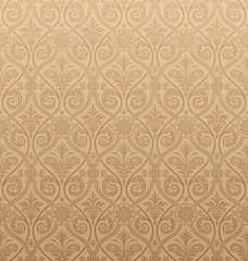 Seamless gothic Damask Wallpaper