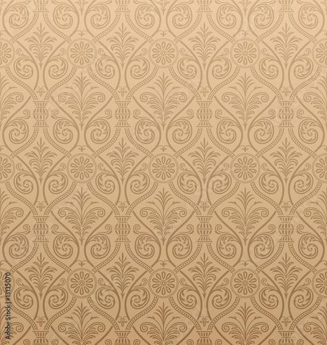 Fototapeta Seamless gothic Damask Wallpaper