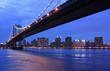 New York- Manhattan Bridge at twilight