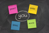 body, mind, soul, spirit and you poster