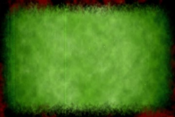 Green background with hand striking on it with sound