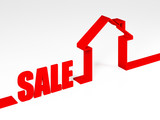 red sale house metaphor poster