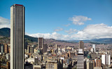 Panoramic view of Bogota, Colombia poster