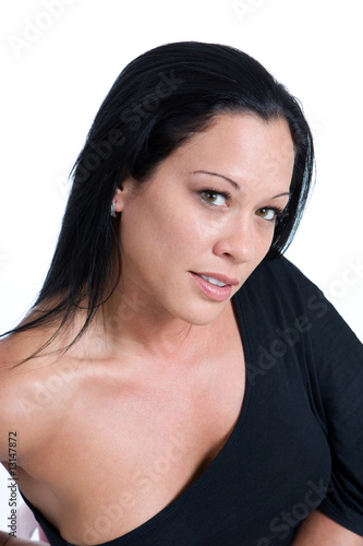 Sensual Woman In Black
