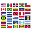vector flags of north, south and latin american countries