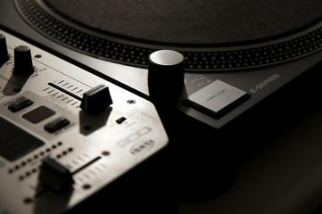 DJ Deck and Mixer