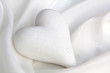 Quadro White silk with a heart