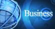 Business commerce fond bleu