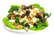 Salad with olives, walnuts, lettuce, blue cheese and arugula