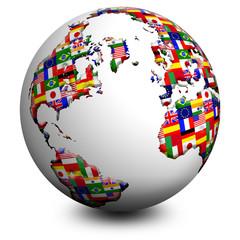 Globo Bandiere-Flags Globe-Globe Drapeau 2