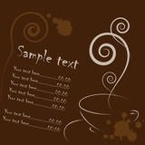 Fototapety coffee card