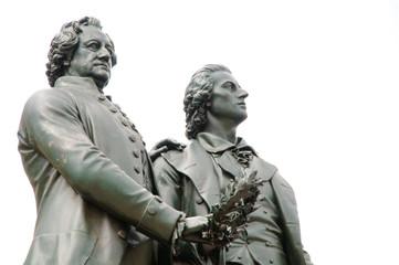 Goethe und Schiller Denkmal, Weimar,Deutschland, Europa