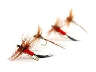 Four trout flies