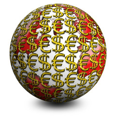 Globo Soldi-Business Globe-Globe Affaires
