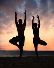 Yoga van het strand