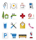 Realistic Petrol Station and Travel Vector Icon Set poster
