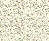 Classic ditsy floral seamless wallpaper