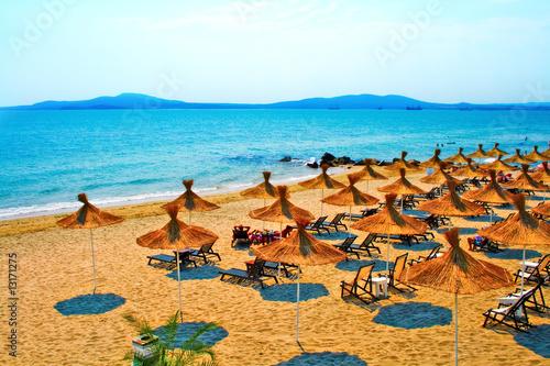 Sunny beach on Bulgaria coastline - 13171275
