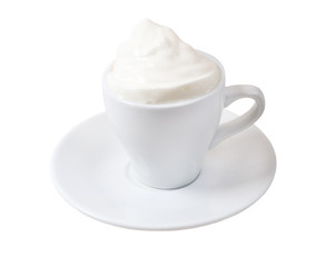 cappuccino.Cup of coffee on a white background