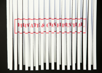 Shredding Document - Private & Confidential