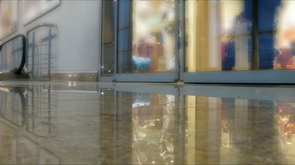Doors in shopping mall