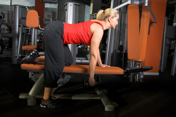 a female bodybuilder in gym III