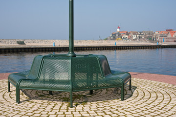 Bench at the harbour